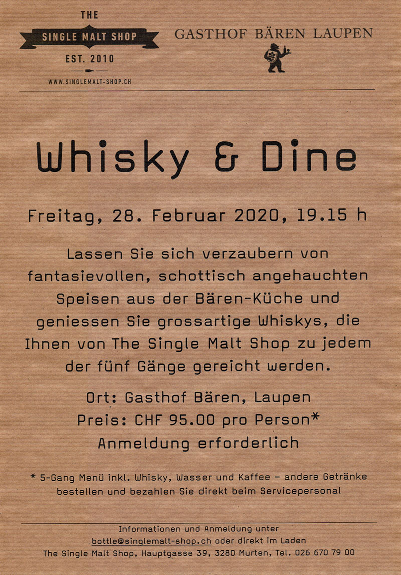 Whisky and Dine